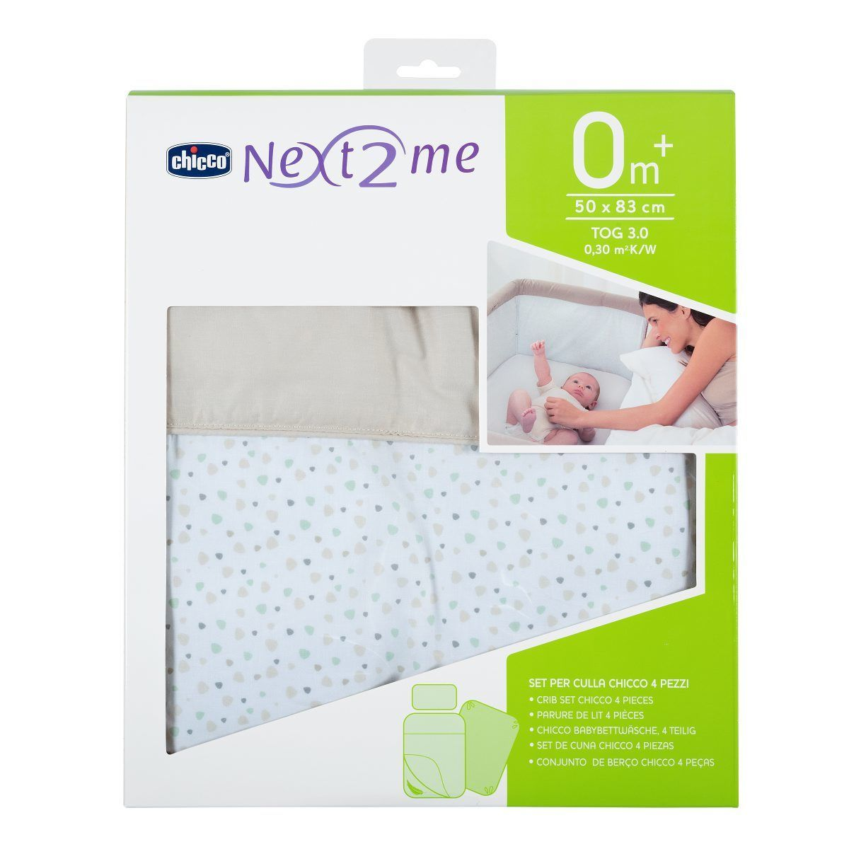 sale retailer c9dab 89691 Set Culla Chicco con Piumino per Next2Me Light Grey 4 PZ ...
